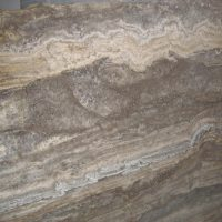 Silver light / dark travertine