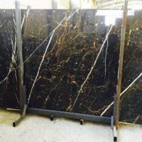 golden black marble slab