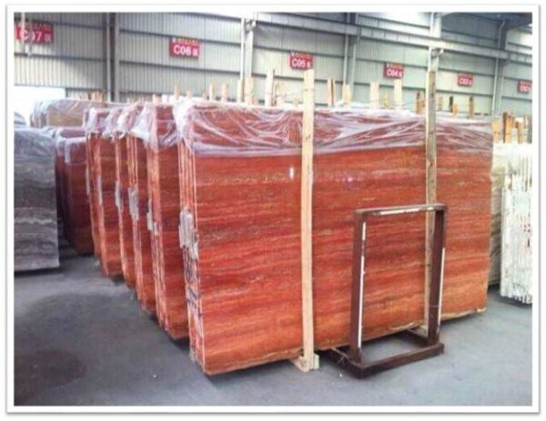 types of red travertine - iranian red travertine slabs and tiles